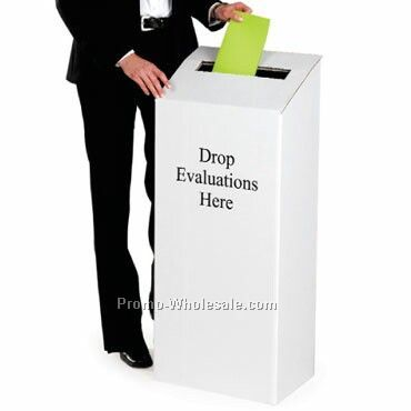 "Standing Ballot Box - Pre Printed ""drop Evaluations Here"""