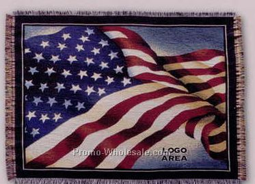 "Tapestry Stock Woven Throws - U.s. Flag (53""x67"")"