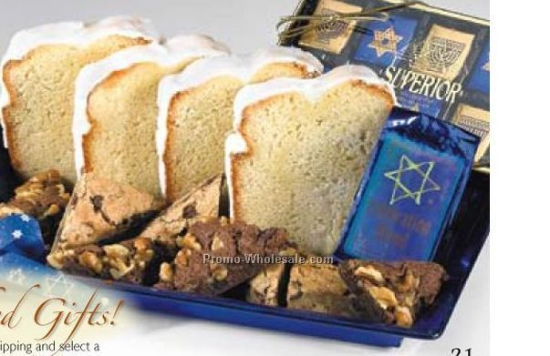 """fresh Baked For Hanukkah"" Gift Basket (14-16 Person Service)"