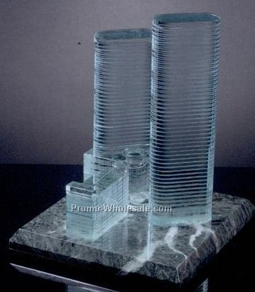 "12""x10""x10"" Skyline Replicas W/ Base"