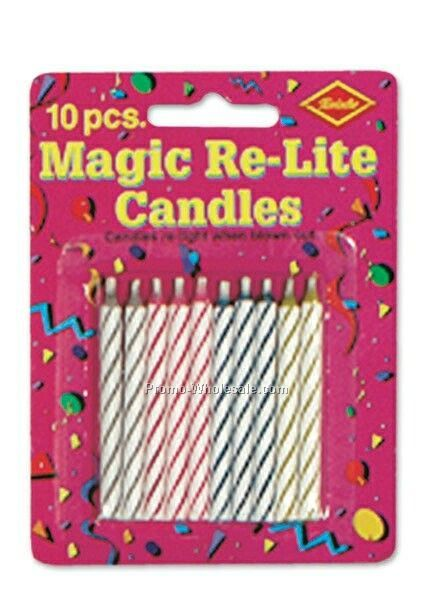 "2-1/2"" Celebration Magic Re Lite Stripe Candles"