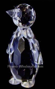 "2-1/8"" Optic Crystal Penguin Figurine"