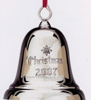23rd Annual Christmas Bell Ornament Engraved W/ Christmas & Year