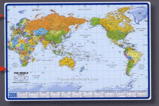 Mapschina wholesale mapspage19 25 12x17 world map calendar desk pad with pacific centered gumiabroncs Image collections