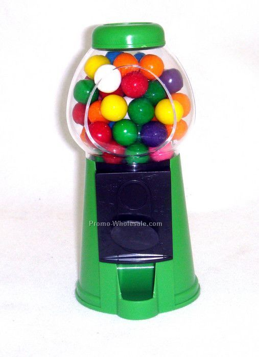 "3-1/2""x3-1/2""x6"" Purple Green- Candy Dispenser Machine"