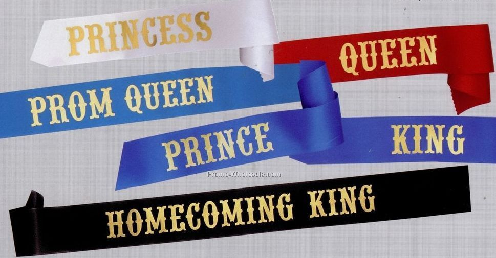 "3""x72"" Stock Title Sash - Queen"
