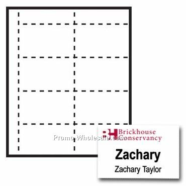 "4""x2-1/2"" Custom Nametag Inserts - 2 Color"