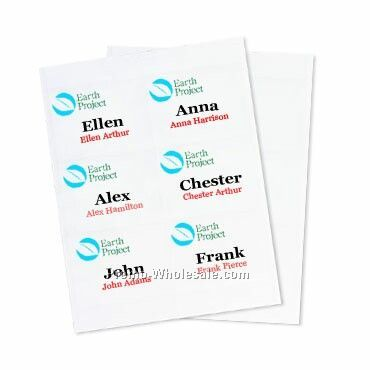"4""x3"" Recycled Insert - 4cp Color Imprint"