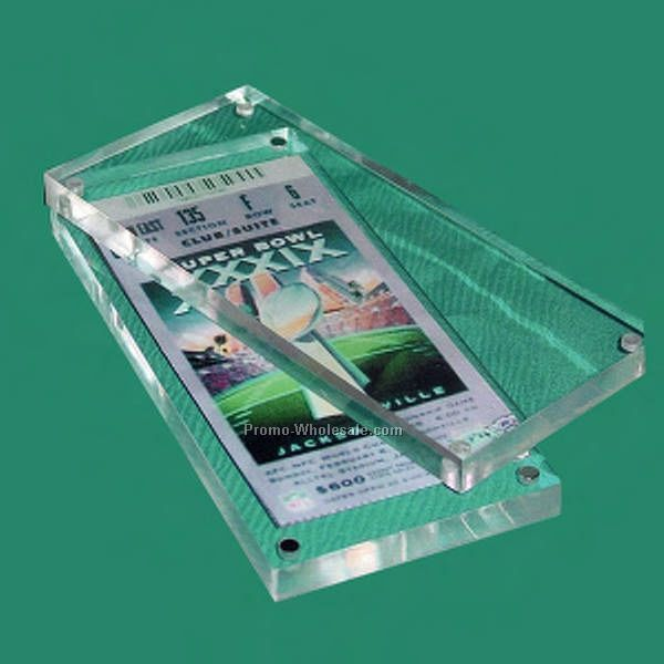 "4""x9""x7/8"" Sports Ticket Display 2 Part Embedment"