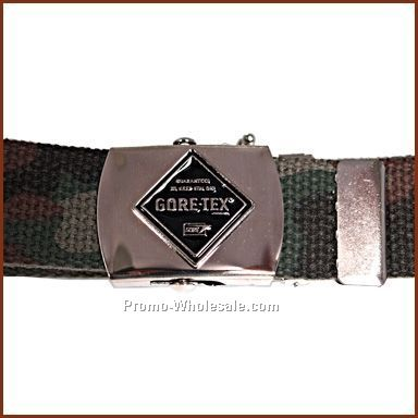 "42"" Web Belt & Military Buckle W/1"" Emblem (1 Color-fill)"