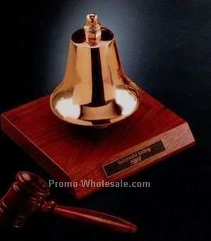"5-1/2""x6"" Bronze Gavel Bell"