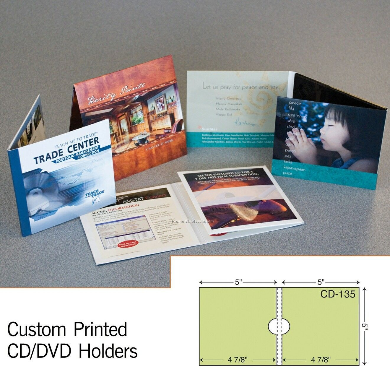 "5""x5-1/2"" CD Sleeve W/ Reinforced Panel (1 Color)"