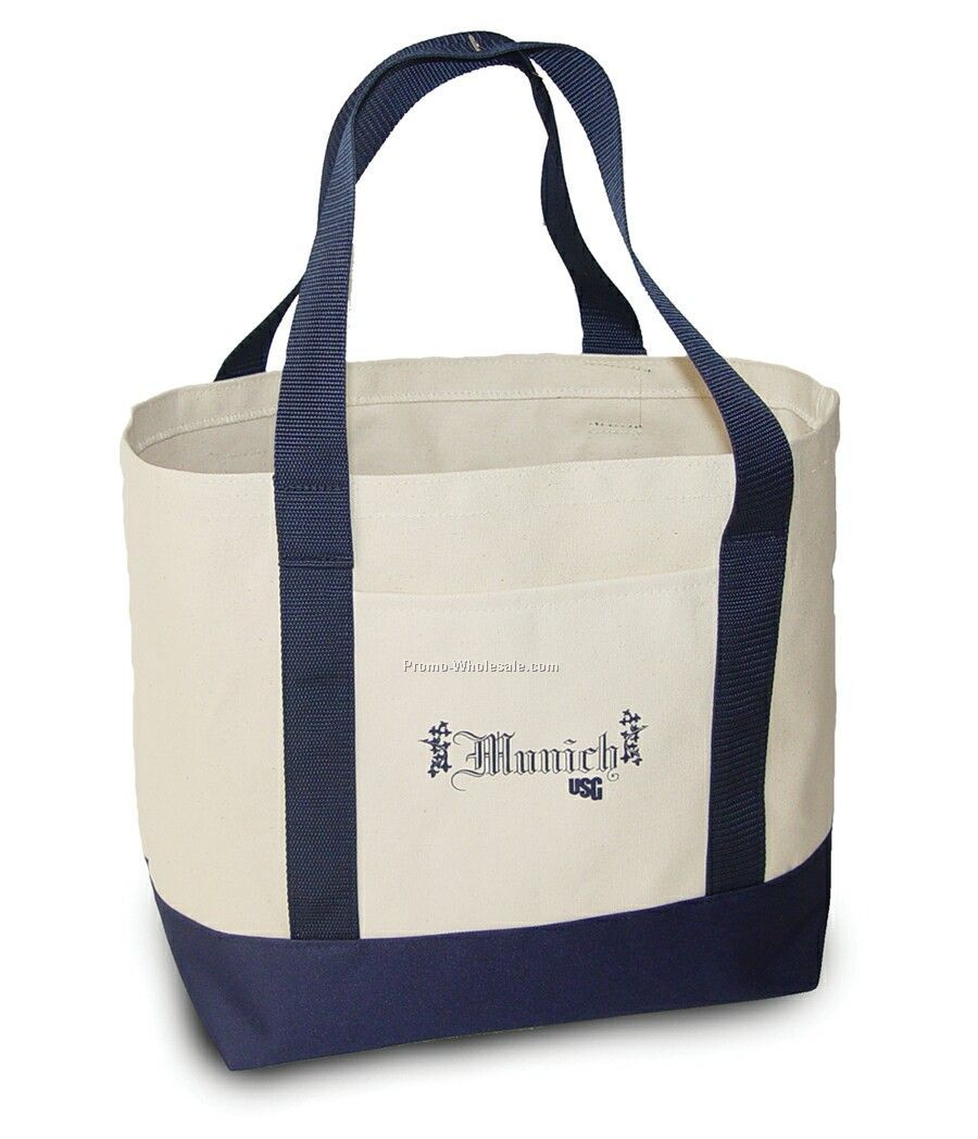 728 (A) N Extra Large Two-tone Tote With Poly Handles