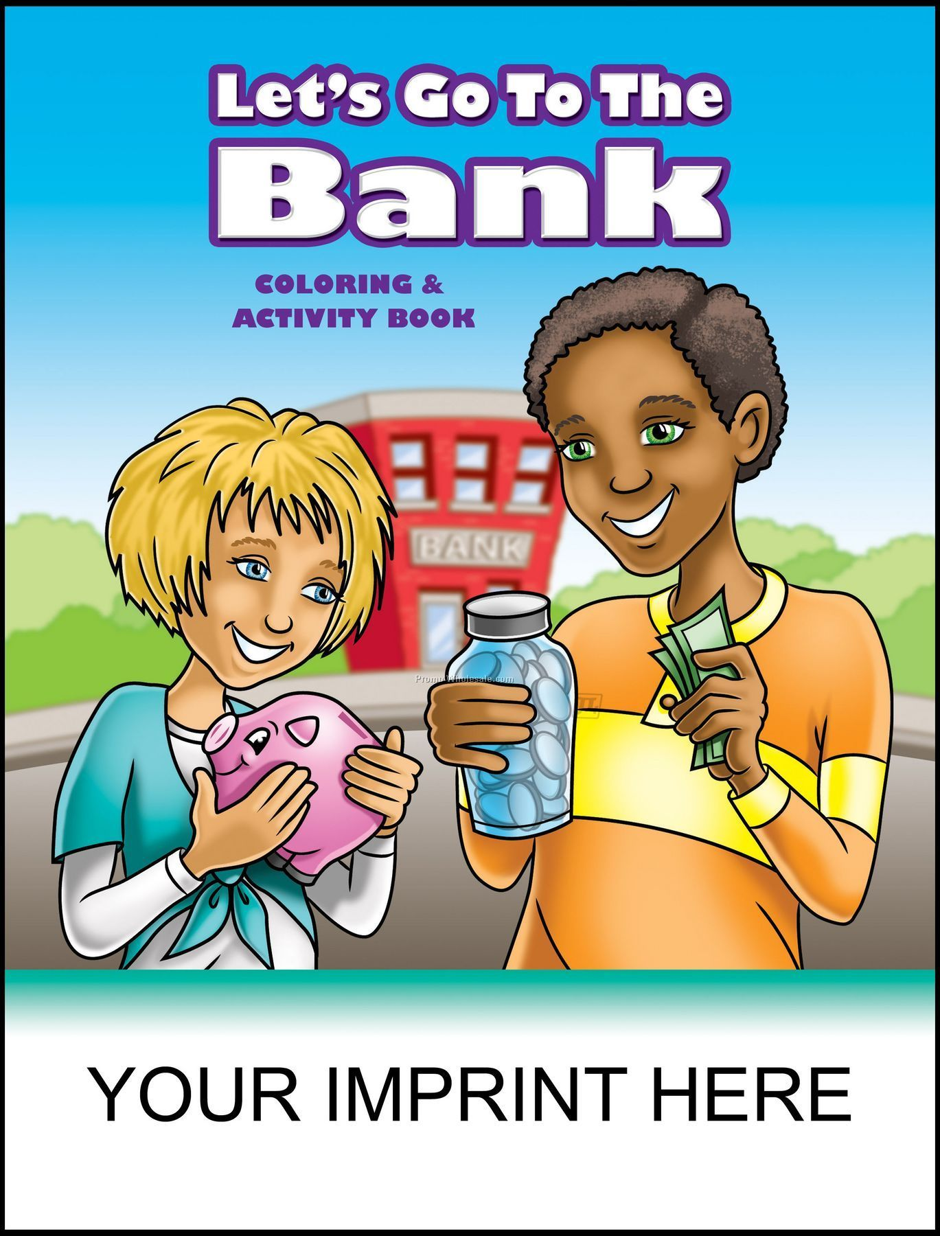 "8-3/8""x10-7/8"" Lets Go To The Bank Coloring & Activity Book"