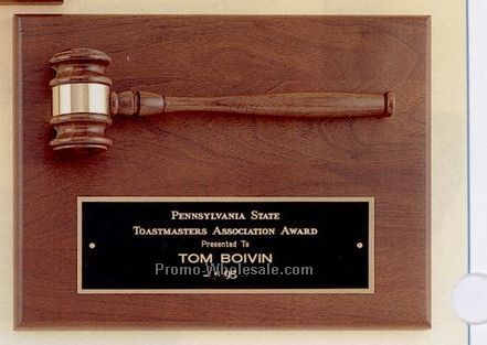 "9""x12"" Parliament Series Plaque With Gavel"