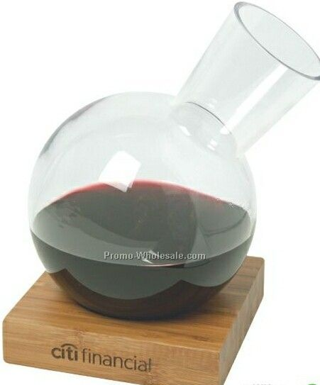 Bamboo Wine Decanter Set