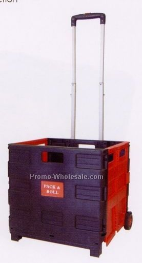 Collapsible Plastic Wheeled Cart