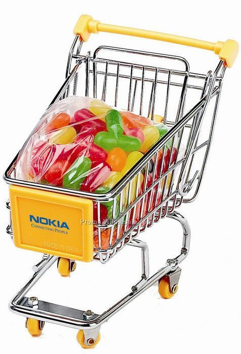 Dlk Mini Shopping Cart With Mike And Ikes Fruit Filled Candy