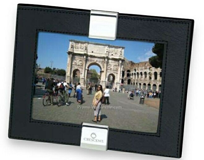 "Essentials Magnum Leather Photo Frame 8-3/4""x6-3/4"""