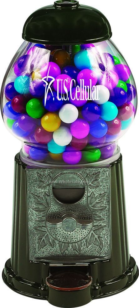 "Green 9"" Gumball / Candy Dispenser Machine"