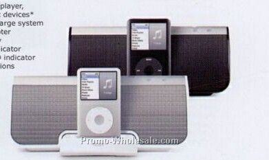 Iluv Black Stereo Speaker With Ipod Dock
