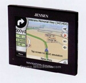 "Jensen 3-1/2"" Touch-screen Portable Navigation Unit W/ 3 Million Poi"