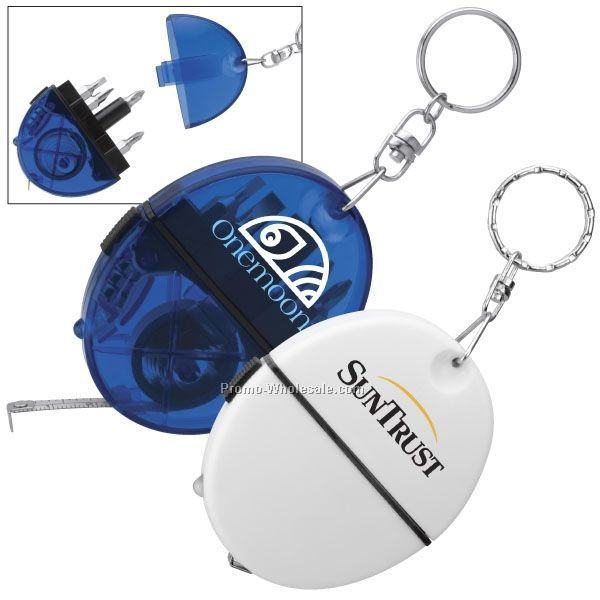 Oval Tool Kit With Tape Measure/ Screwdriver/ Keychain