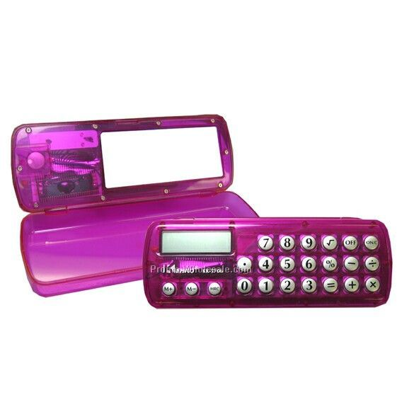 Pencil Case With Calculator & Mirror