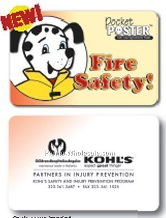 Pocket Poster - Fire Safety