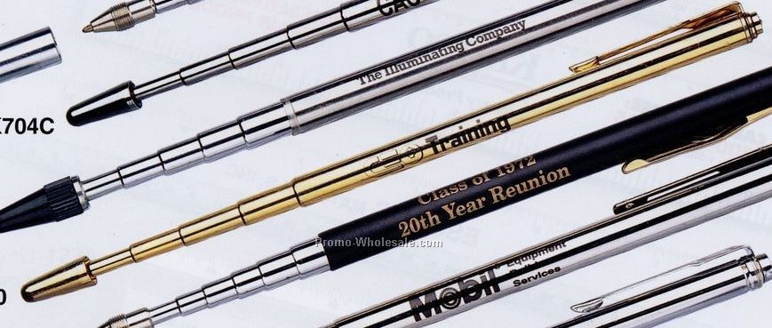 Telescopic Pen-gold Finish