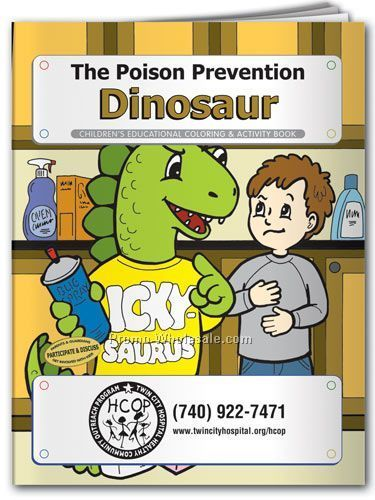 The Poison Prevention Dinosaur Coloring Book