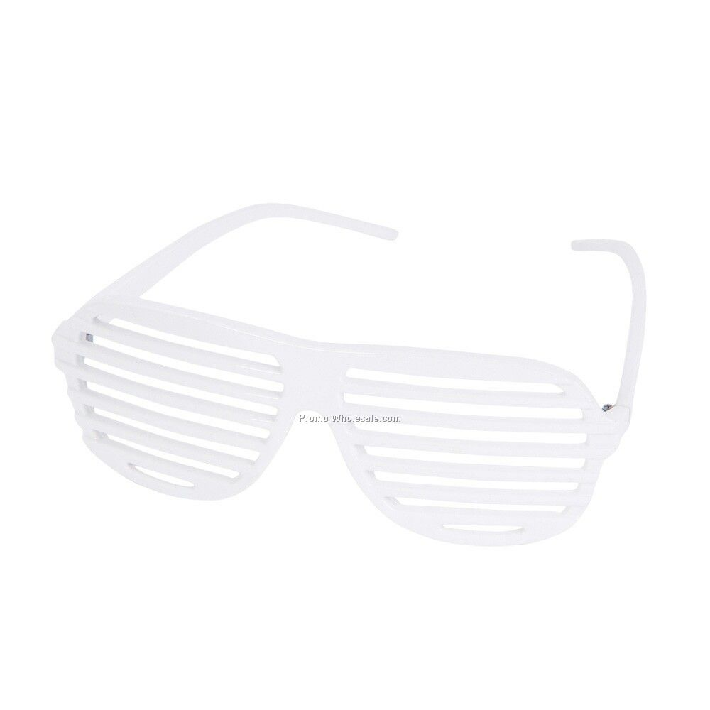 White Slotted Sunglasses