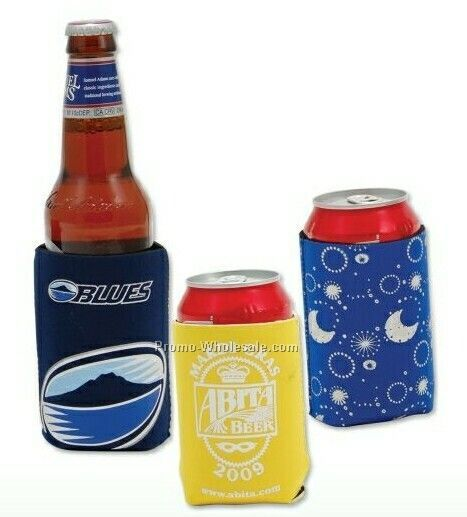 "Zip-up Neoprene Bottle Holder (2-1/5""x7-1/2"")"