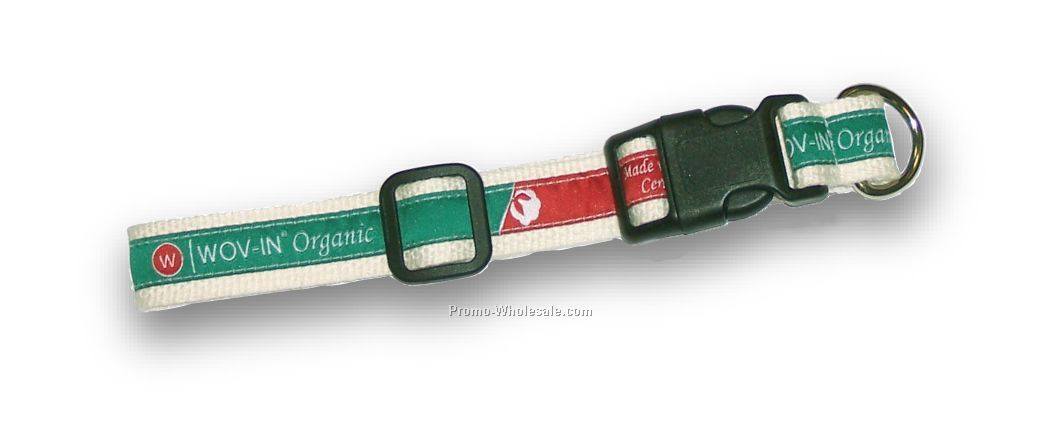 "1"" Organic Pet Collar Style U - By Wov-in Line"