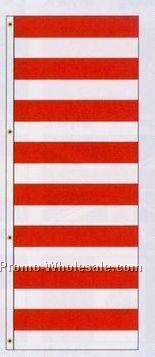 3'x8' Stock America Forever Drape Banners - Red/ White Stripes