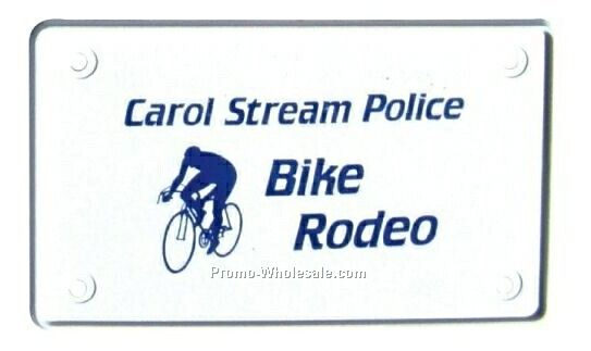 "4""x2-1/4"" Bicycle License Plate - Plate Only"