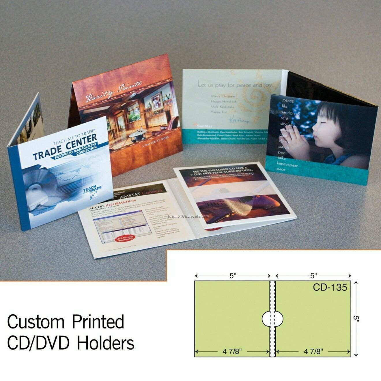 "5""x5-1/2"" CD Sleeve W/ Reinforced Panel (2 Color)"