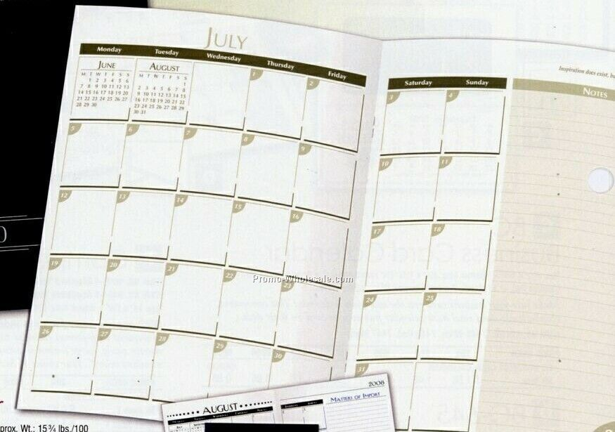 "6-3/4""x9"" 14-month Business Calendar (Maroon) - After June 1"
