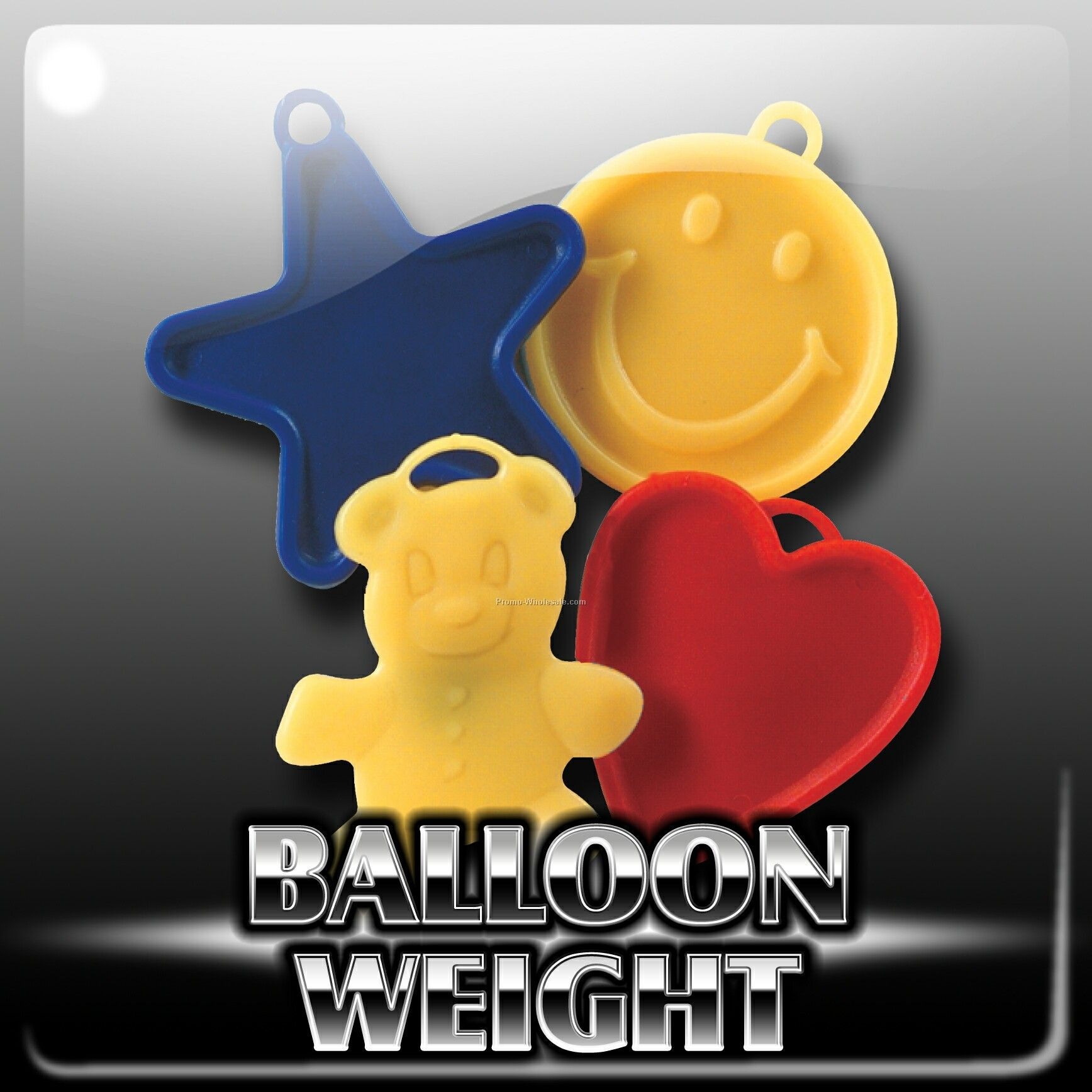 Balloon Weight - Assorted Shapes/Colors-10/12g