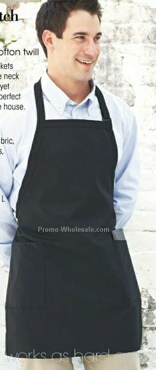"Bib 2 Patch Pockets Apron (23""x30"") /Printed"