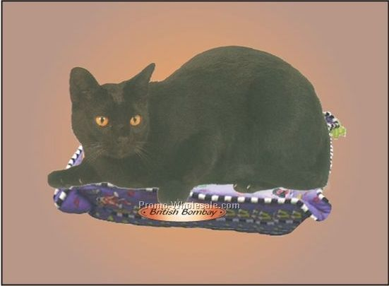 "British Bombay Cat Badge W/ Metal Pin (2-1/2""x3-1/2"")"