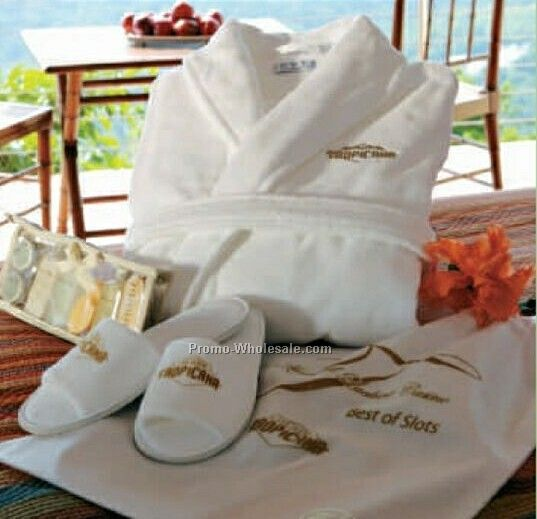 Cabana Bay Velour Robe, Slippers And Travel Gift Set