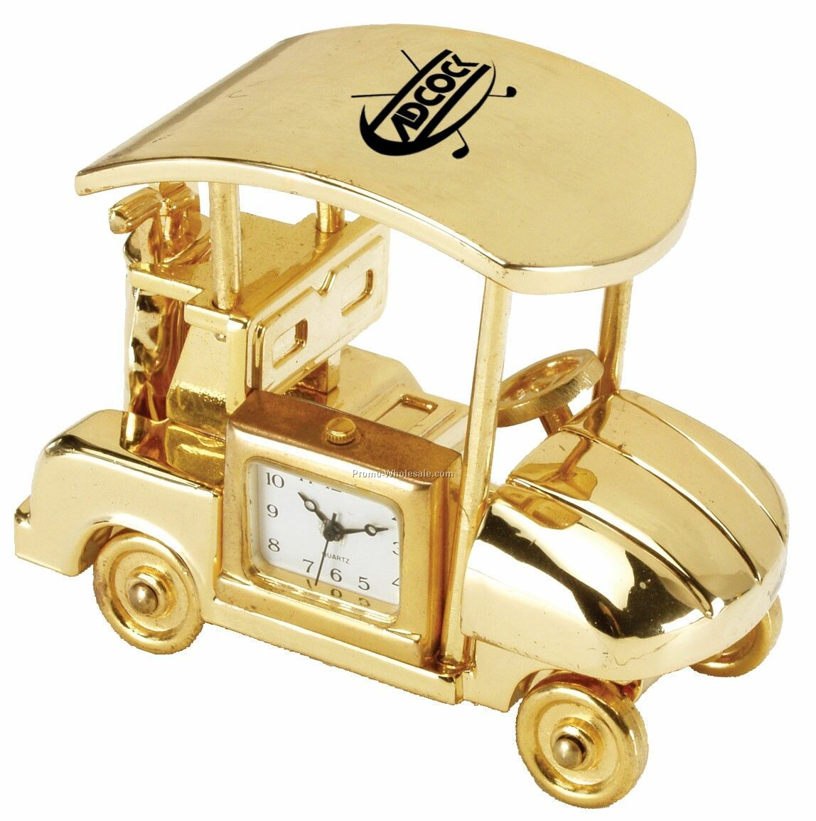 Die Cast Golf Cart Clock