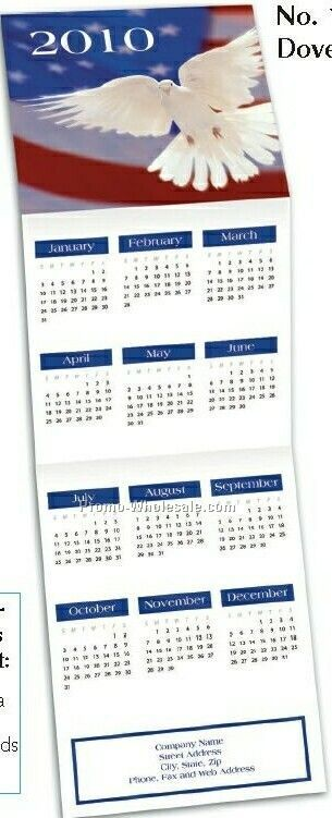 Dove Trifold Calendar (After 10/1)