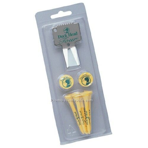 Golf Gift Pack W/ Bent Metal Divot Tool