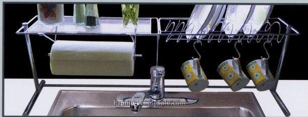 Handy Gourmet Chrome Kitchen Organizer Rack