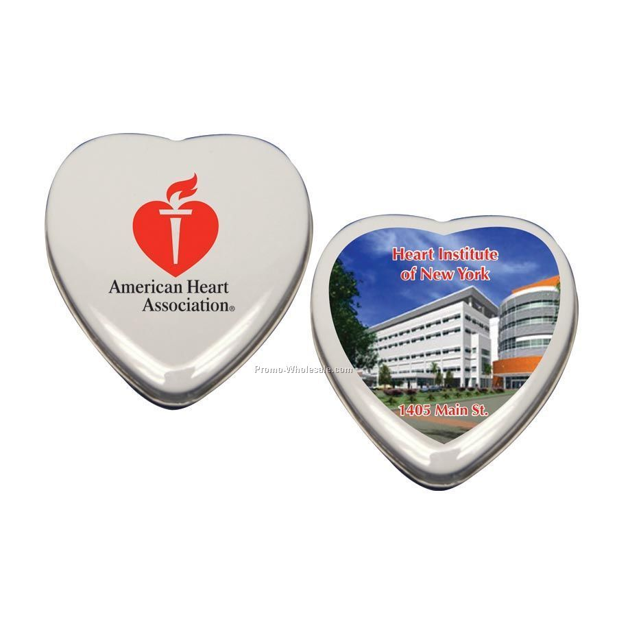 Heart Tin Filled With Sugar Free Mints