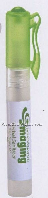 Herbal Sanitizing Spray W/Thyme Oil & Tea Tree Oil With Pen Clip Caps