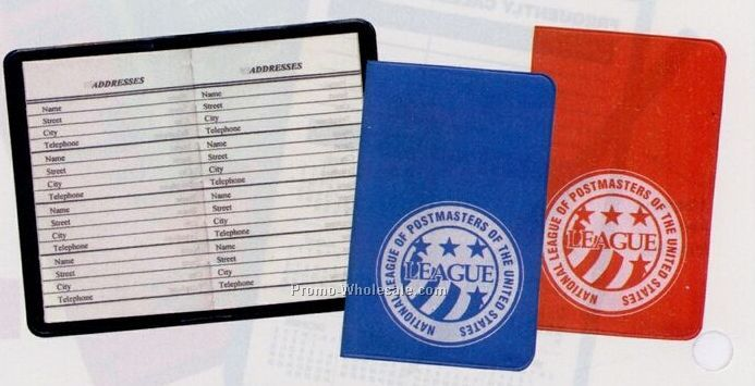 Mini Address Book (Standard Vinyl Colors)