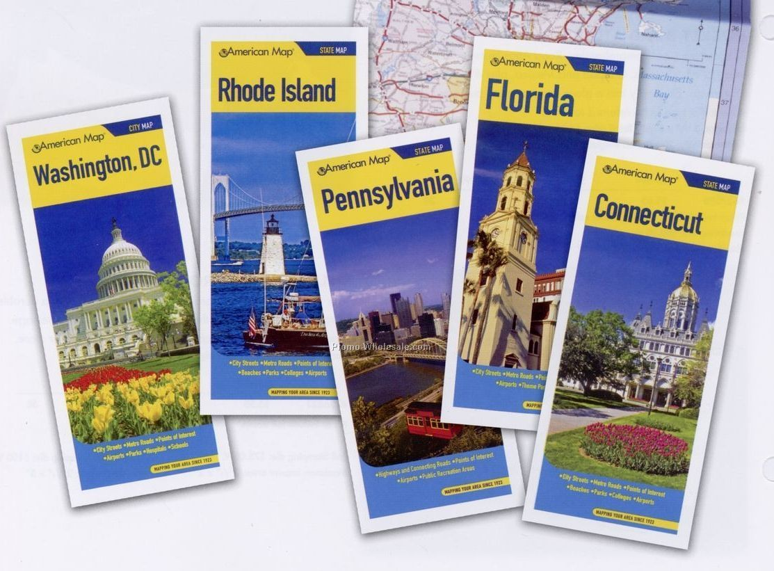 New Jersey Travelvision Folded State Maps